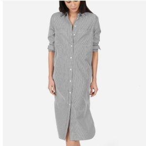 Everlane cotton poplin long shirtdress